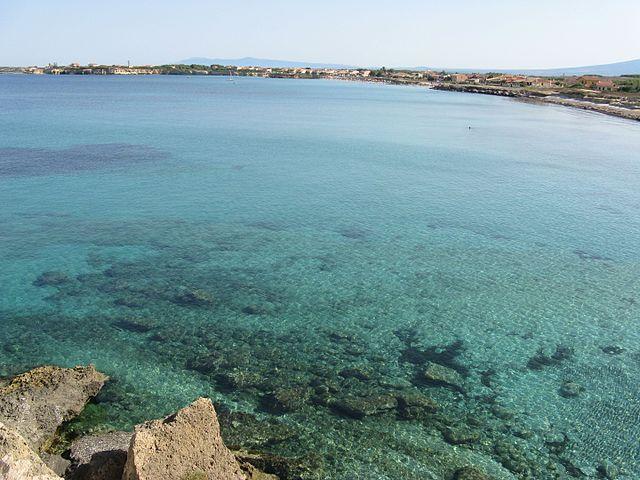 Il mare del litorale di San Vero Milis in provincia di Oristano