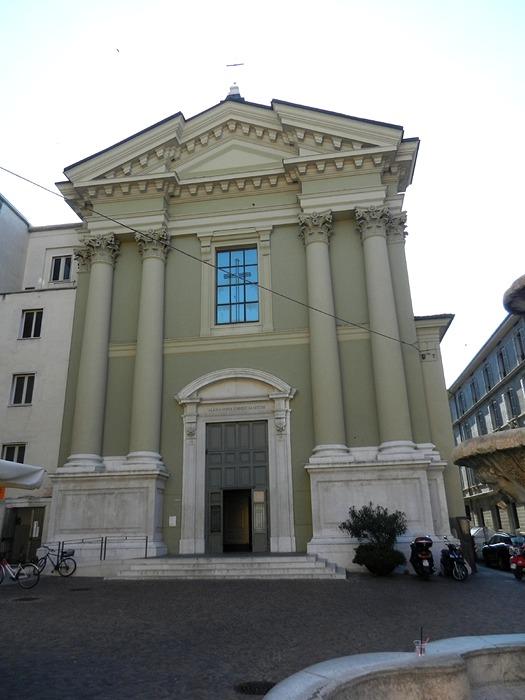 Foto della Chiesa di Sant'Alessandro a Brescia dove sono stati celebrati i funerali di Viktoriia Vovkotrub