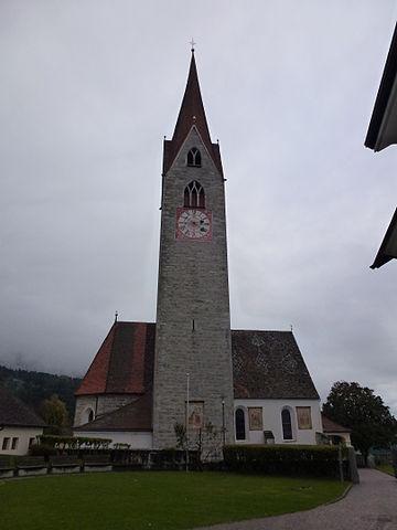 Chiesa di Sant'Andrea dove si sono svolti i funerali di Monika Gruber