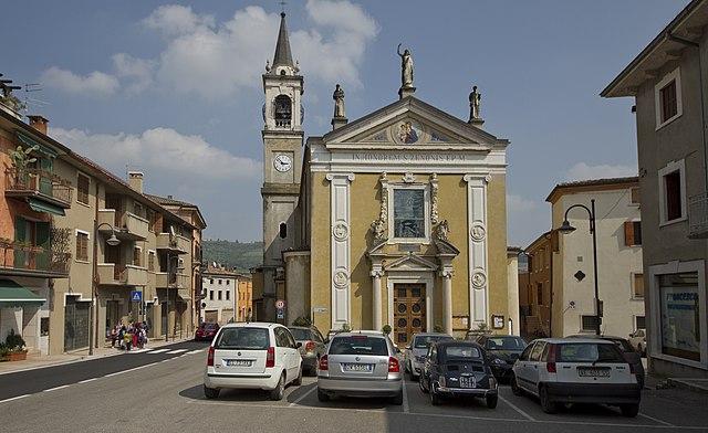 La Chiesa di San Zenone a Fumane in provincia di Verona dove sono stati celebrati i funerali di Chiara Ugolini