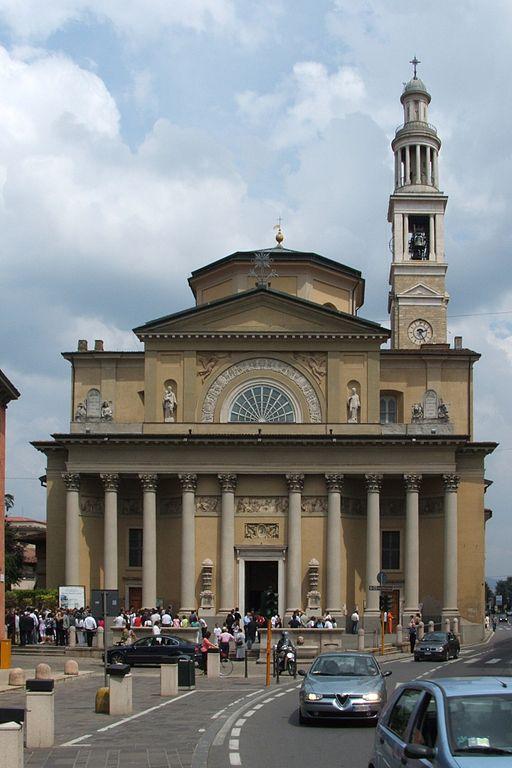 Foto della Chiesa del Santissimo Redentore di Seriate in provincia di Bergamo dove si sono svolti i funerali di Gianna Del Gaudio