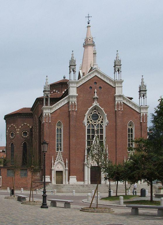 Foto della Parrocchia del Sacro Cuore di Gesù a Novara dove si sono svolti i funerali di Paola Malavasi