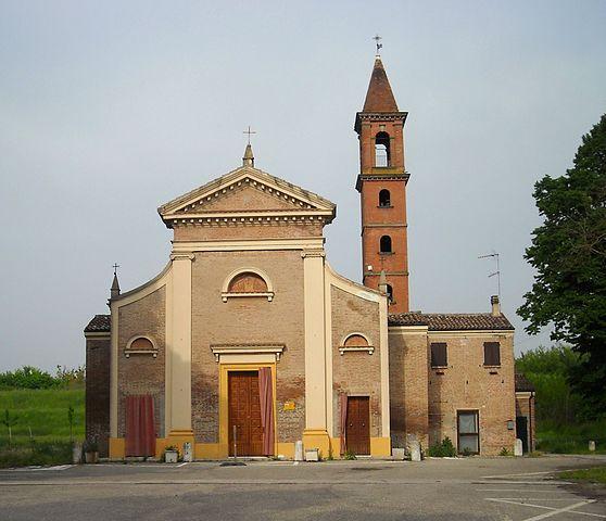 Foto del Santuario della Beata Vergine Lauretana della Pioppa a Ospitale, frazione di Bondeno (Ferrara), dove sono stati celebrati i funerali di Rossella Placati