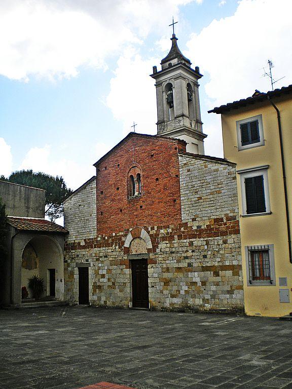 Foto della Chiesa di San Pietro a Iolo, frazione di Prato, dove si sono svolti i funerali di Claudia Corrieri