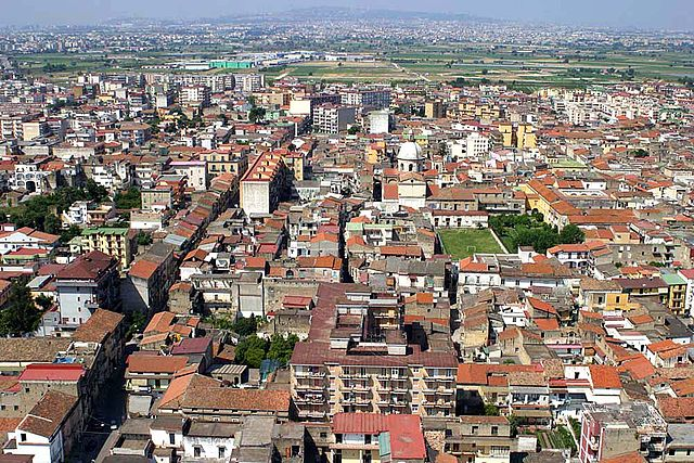 Veduta aerea di Acerra in provincia di Napoli