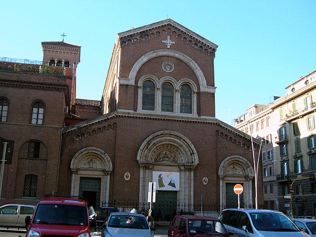 Foto della Chiesa di Ognissanti di Roma dove si sono svolti i funerali di Pamela Mastropietro