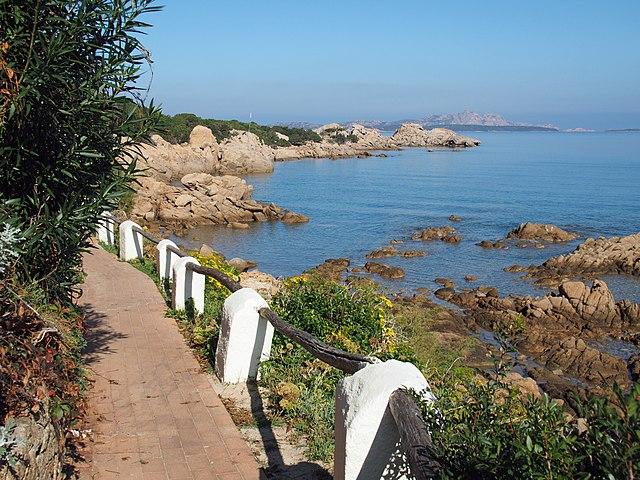 Uno scorcio della costa di Baja Sardinia, frazione di Arzachena in provincia di Sassari