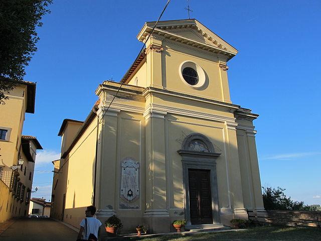 Foto della Chiesa di San Pietro a Balconevisi di San Miniato dove si sono svolti i funerali di Federico Zini
