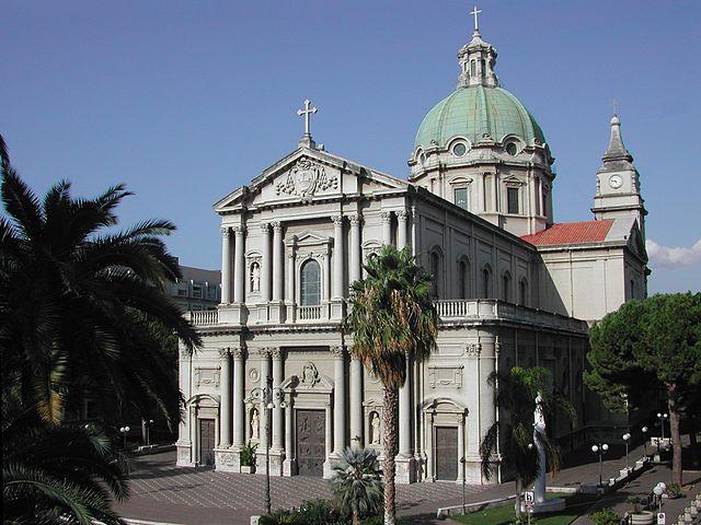 Foto della Basilica di San Sebastiano a Barcellona Pozzo di Gotto in provincia di Messina dove si sono svolti i funerali di Maria Carmela Isgrò