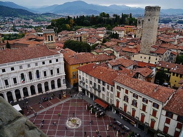 Uno scorcio dall'alto di Bergamo
