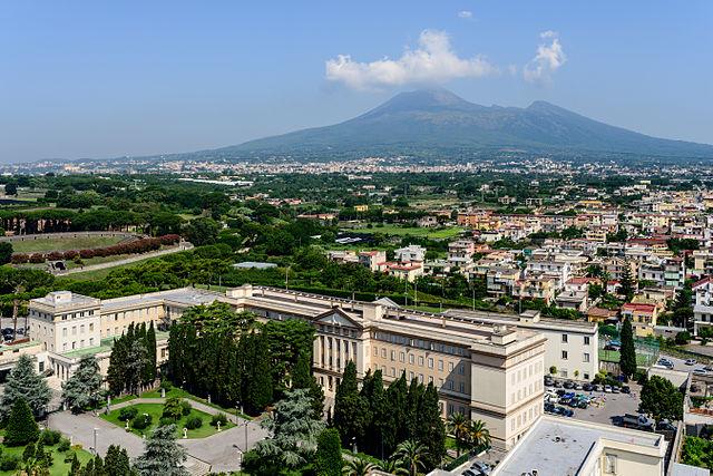 Foto panoramica di Boscoreale, paese d'origine di Immacolata Villani