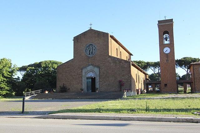 Foto della Chiesa del Cuore Immacolato di Maria, situata nella frazione di Borgo Carige a Capalbio, dove si sono svolti i funerali di Madalina Luminita