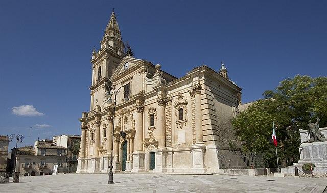 Foto della Cattedrale di San Giovanni Battista a Ragusa dove si sono svolti i funerali di Maria Zarba