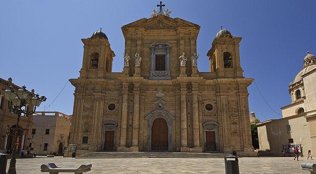 Foto della Chiesa Madre di Marsala dove si sono svolti i funerali di Nicoletta Indelicato
