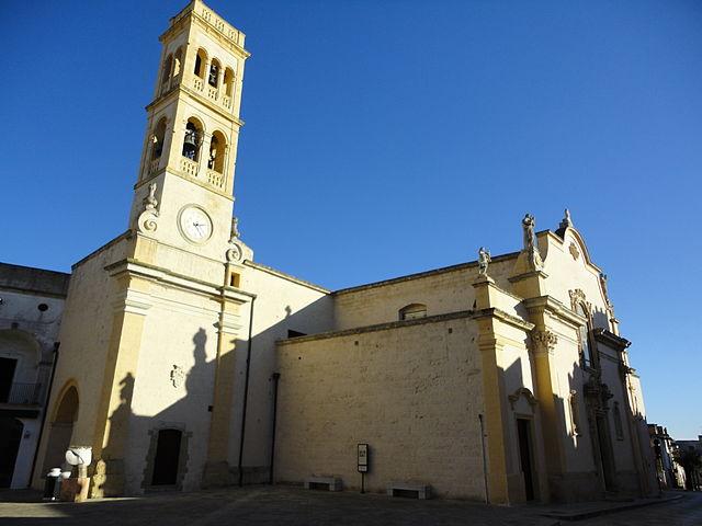Foto della Chiesa della Presentazione della Beata Vergine Maria a Specchia (Lecce) dove sono stati celebrati i funerali di Noemi Durini