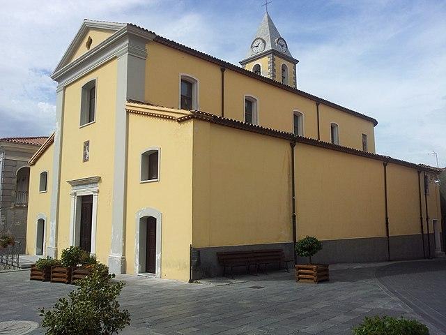 Foto della Chiesa Madre di Maria Santissima degli Angeli a San Severino Lucano in provincia di Potenza dove si sono svolti i funerali di Antonietta Ciancio
