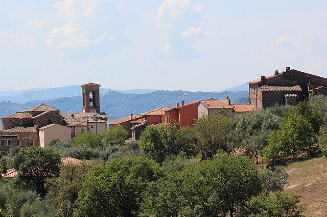 Uno scorcio di Villa, frazione di Magione in provincia di Perugia