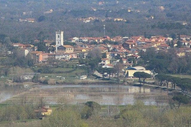 Uno scorcio panoramico di Orentano, frazione di Castelfranco di Sotto in provincia di Pisa