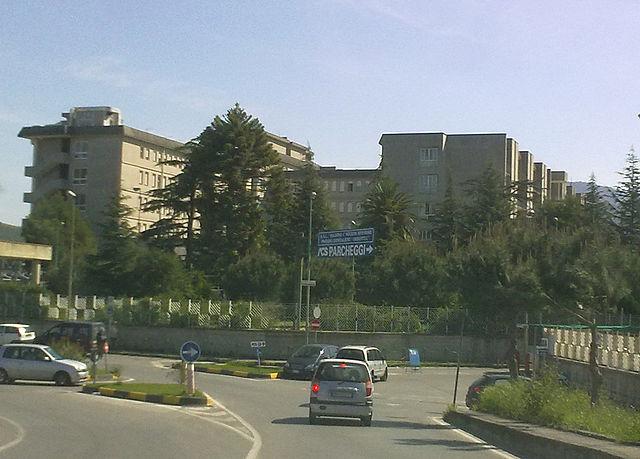 Foto dell'ospedale Umberto I di Nocera Inferiore (Salerno) dove la piccola Jolanda è stata trasportata nella notte tra il 21 e il 22 giugno 2019