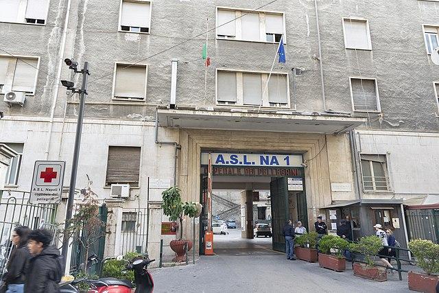 L'ospedale dei Pellegrini di Napoli dove ha perso la vita Irina Maliarenko