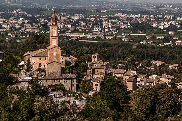 Scorcio dall'alto di Savignano sul Panaro in provincia di Modena