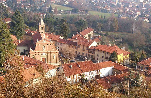 Uno scorcio panoramico di Piossasco in provincia di Torino