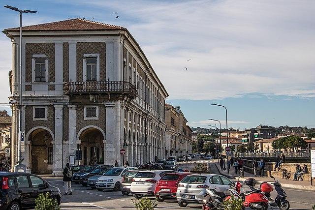 Uno scorcio della città di Senigallia in provincia di Ancona
