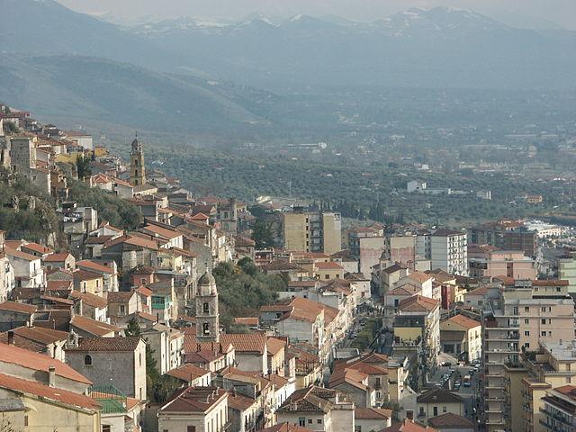 Uno scorcio panoramico di Sala Consilina in provincia di Salerno