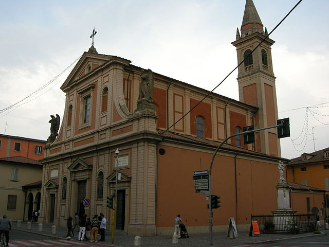 La Chiesa di Santa Maria Assunta a Castelfranco Emilia in provincia di Modena dove sono stati celebrati i funerali di Maria Carmina Fontana