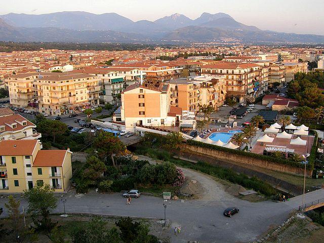 Panorama dall'alto di Scalea in provincia di Cosenza