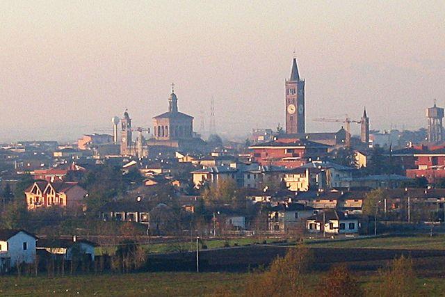 Panorama dall'alto di Treviglio in provincia di Bergamo