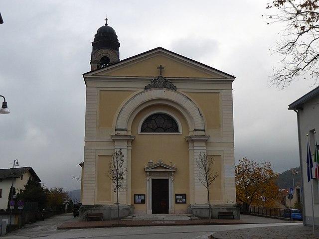 Foto della Chiesa dell'Immacolata a Vigo Meano, frazione di Trento, dove sono stati celebrati i funerali di Deborah Saltori
