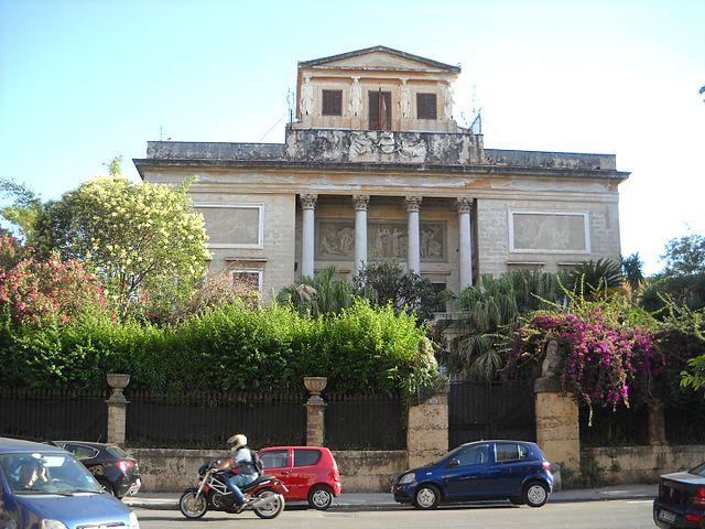 Foto della Villa Belmonte nel quartiere Noce di Palermo