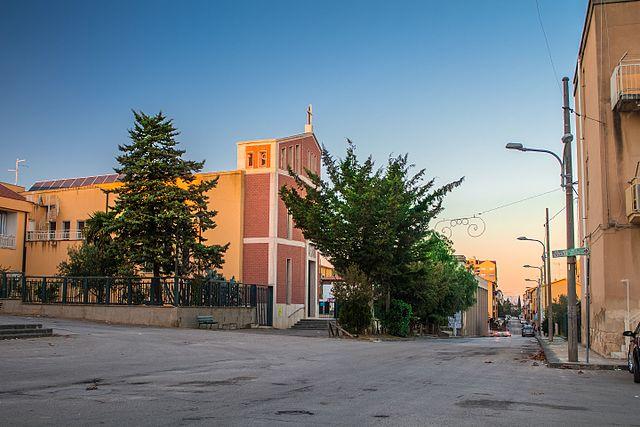Foto della Chiesa di Santa Barbara nella frazione omonima di Caltanissetta dove si sono svolti i funerali di Grazia Sicilia