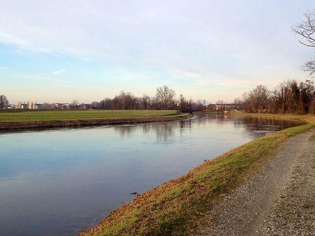 Foto del canale Muzza a Paullo in provincia di Milano