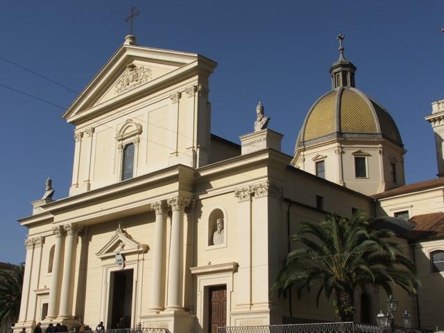 Foto della Cattedrale dei Santi Pietro e Paolo a Lamezia Terme in provincia di Catanzaro dove si sono svolti i funerali di Adele Bruno