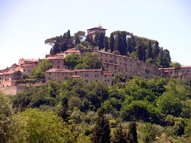 Uno scorcio di Cetona in provincia di Siena