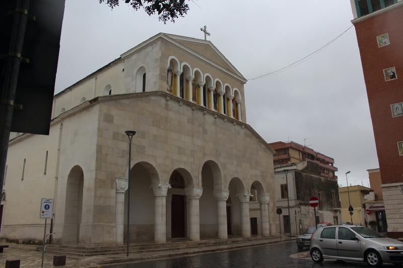 Foto della Chiesa della Beata Vergine Maria Addolorata a Orta Nova in provincia di Foggia dove si sono svolti i funerali di Filomena Bruno