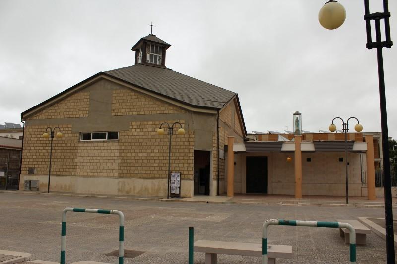 Foto della Chiesa della Beata Vergine Maria di Lourdes a Orta Nova dove sono stati celebrati i funerali di Tiziana Gentile