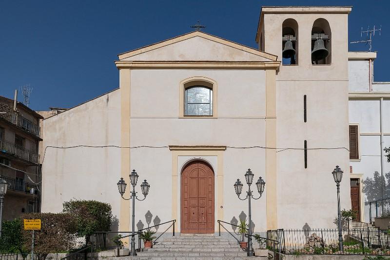 La Chiesa Madre di Gesù, Maria e Giuseppe a Giardinello dove sono stati celebrati i funerali della vittima