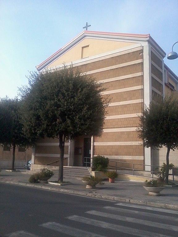 Foto della Parrocchia di San Francesco d'Assisi a Cisterna di Latina dove si sono svolti i funerali di Elisa Ciotti