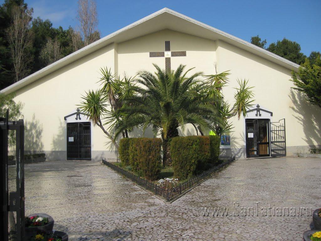 Foto della Parrocchia Nostro Signore Gesù Cristo Re dell'Universo a Pescara dove sono stati celebrati i funerali di Marina Angrilli e Ludovica Filippone