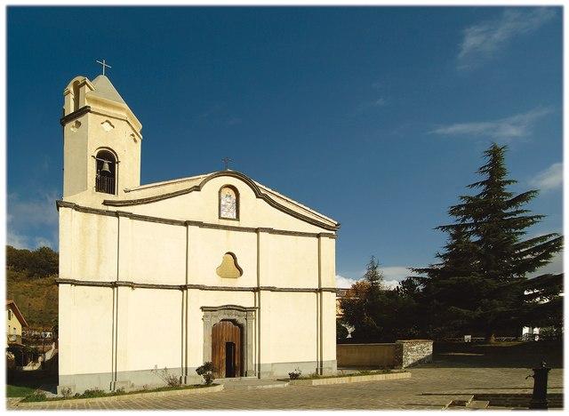 Foto della Chiesa di San Vincenzo a San Severino Lucano in provincia di Potenza dove si sono svolti i funerali di Maria Adalgisa Nicolai