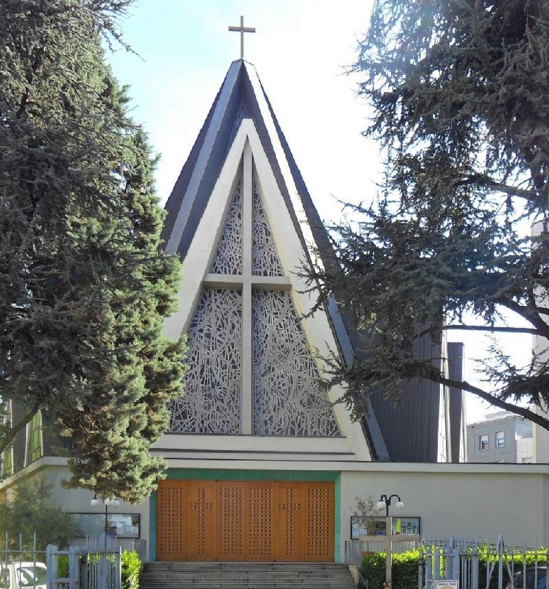 La Chiesa di Santa Maria Crocifissa di Rosa dove si sono svolti i funerali della professoressa Cristina Maioli