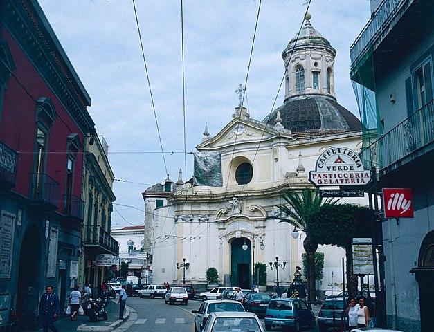 Foto della Chiesa di Santa Maria delle Grazie a Melito di Napoli dove si sono svolti i funerali di Norina Matuozzo