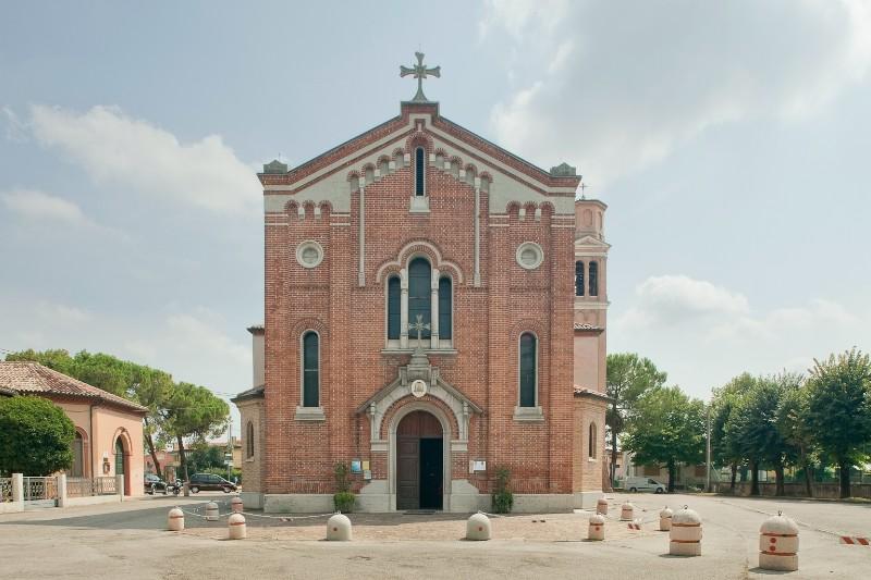 La Chiesa dei Santi Filippo e Giacomo Apostoli a Visnadello, frazione di Spresiano in provincia di Treviso, dove sono stati celebrati i funerali di Bruna Mariotto