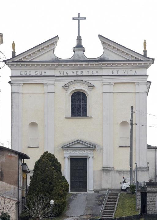La Chiesa dei Santi Ippolito e Cassiano Martiri ad Agnosine in provincia di Brescia dove sono stati celebrati i funerali di Giusi di Luca