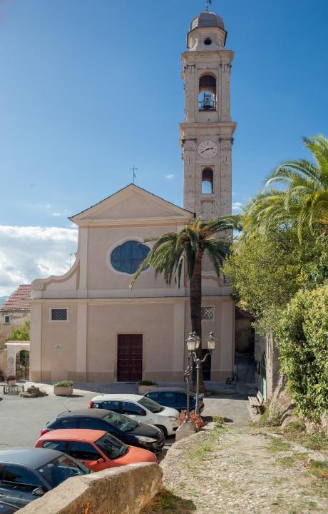 Foto della Chiesa della Santissima Annunziata di Bastia d'Albenga in provincia di Savona dove si sono svolti i funerali di Jessica Novaro