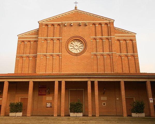 Foto della Parrocchia del Cuore Immacolato di Maria e Sant'Ilario, detta anche Santuario della Madonna pellegrina, dove si sono svolti i funerali di Renata Berto e Tino Bellinello