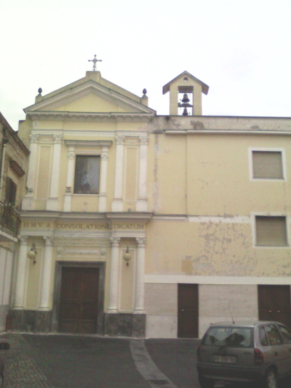 Foto della Chiesa di Maria SS. della Consolazione a San Valentino Torio dove si sono svolti i funerali di Luana Rainone